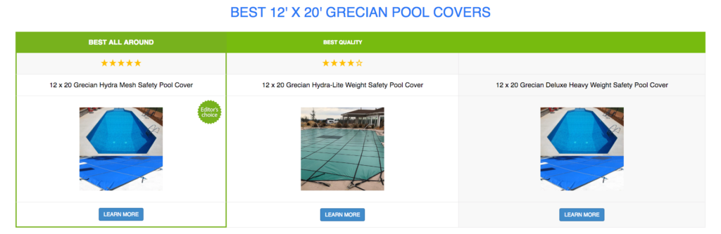 12 x 20 Grecian Pool Covers