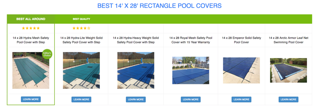 4 x 28 Rectangle Pool Covers