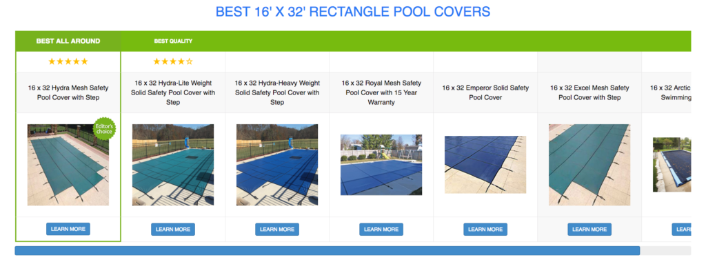 16 x 32 Rectangle Pool Covers