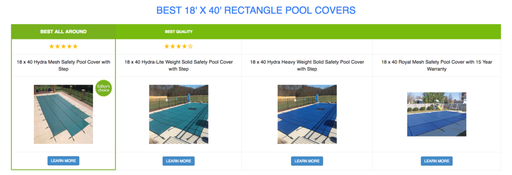 18 x 40 Rectangle Pool Covers