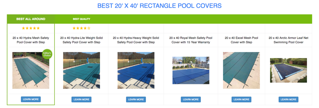 20 x 40 Rectangle Pool Covers