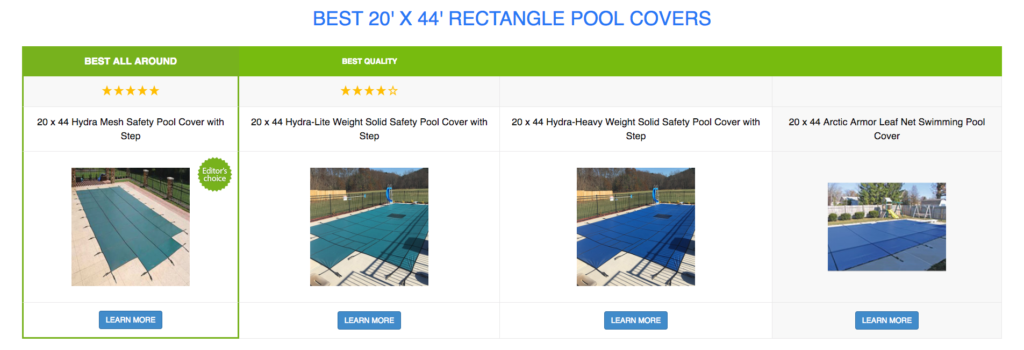 20 x 44 Rectangle Pool Covers