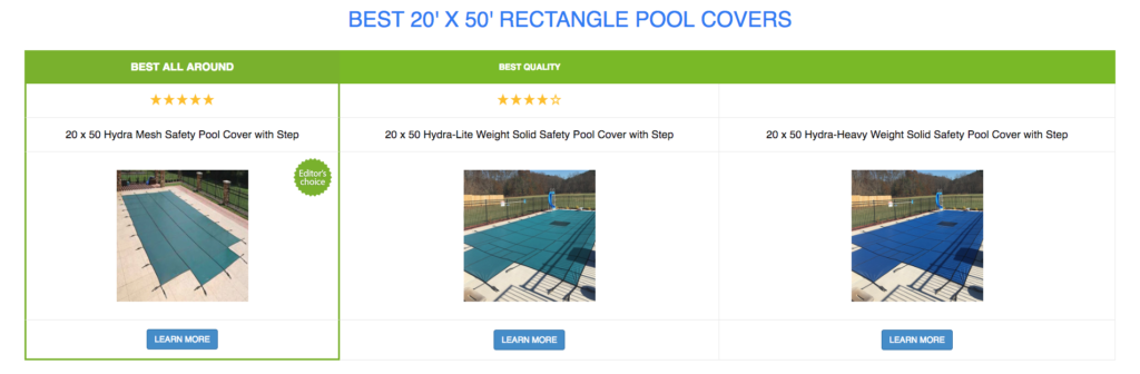 20 x 50 Rectangle Pool Covers