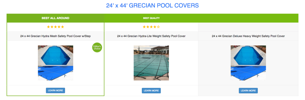 24 x 44 Grecian Pool Covers
