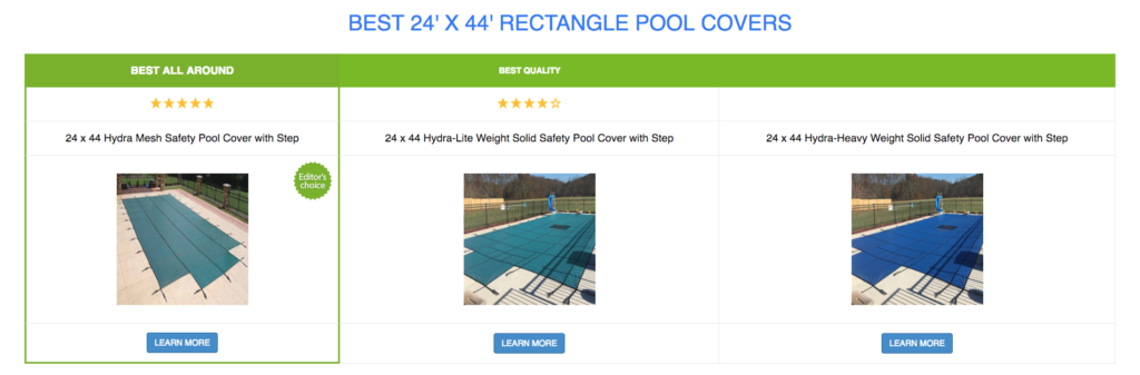 24 x 44 Rectangle Pool Covers
