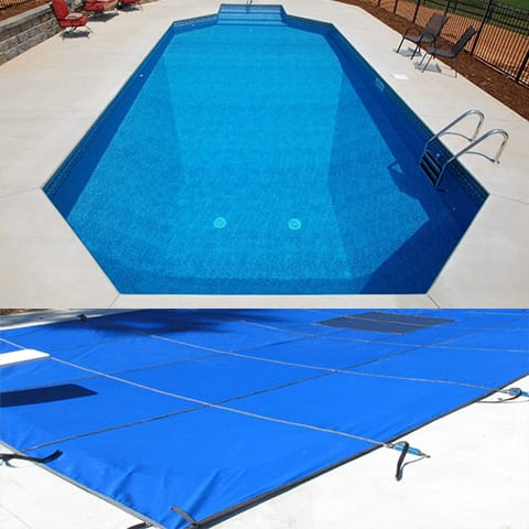 12 x 20 Grecian Hydra Mesh Safety Pool Cover