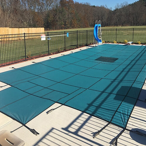 12 x 20 Hydra-Lite Weight Solid Safety Pool Cover with Step