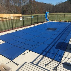 Hydra-Heavy Weight Solid Safety Pool Cover with Step