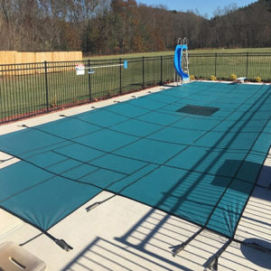 Hydra-Lite Weight Solid Safety Pool Cover with Step